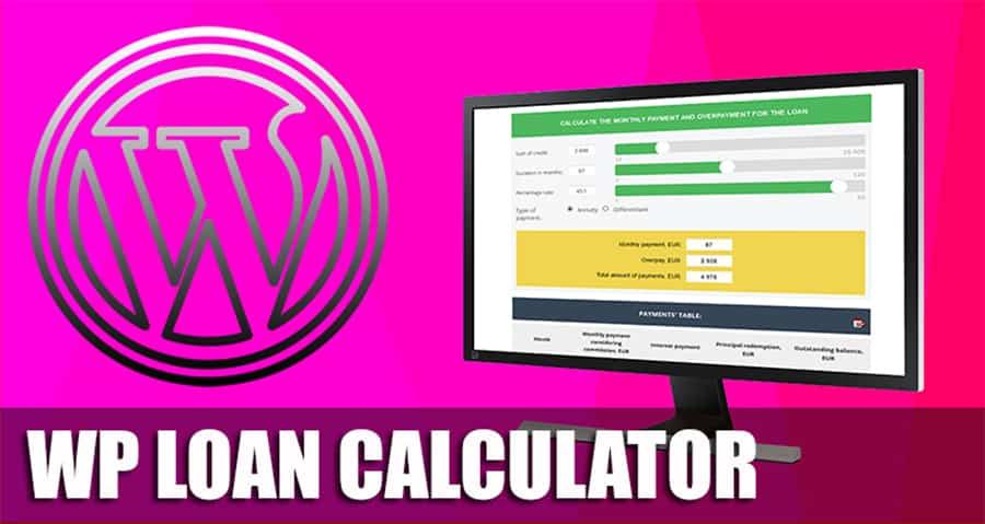 Wp Loan Calculator — Кредитный калькулятор для WordPress